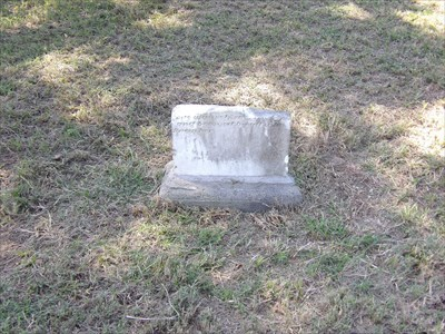 """A stone from which the top part that contained the essential date is missing has only the following anonymous inscription: """"She was self-sacrificing and beloved by all who knew her."""" This apparently refers to Johannah Abrahamson or to Lizzie Griscom."""