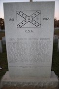 Image for The NC Military Institute (1st NC Volunteers) -- Elmwood Cemetery Charlotte NC