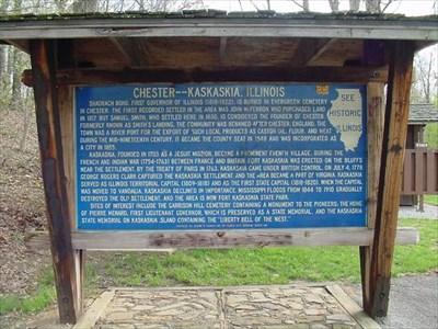 Chester-Kaskaskia, Illinois, Historical Marker