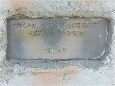 Close up of the identification plaque. 1443, Sunday, 2 June, 2019