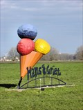 Image for Big icecream in the middle of a meadow, Flevoland, Netherlands.
