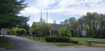 Copley Parish Episcopal Church viewed from the Joppa Town historical marker