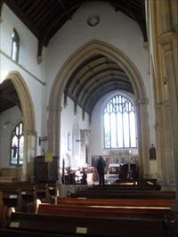 ...the nave looking east.