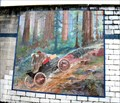Image for New York to Portland car race mural, Sweet Home, OR