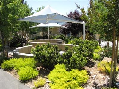 Middle School Courtyard, Almaden Country School, San Jose, California