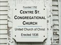 Image for Centre Street Congregational Church - 1836 - Machias, ME