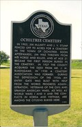 Image for FIRST - Person Buried in Ochiltree Cemetery - S. of Perryton, TX