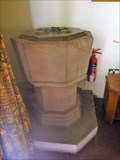 Image for The Font - Parish Church of St Mary and St Lawrence - Cauldon, Stoke-on-Trent, Staffordshire, UK.
