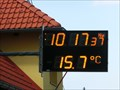 Image for Time and Temperature Sign - Nova Ves nad Luznici, Czech Republic