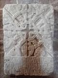 Image for La plaque funéraire - Église Saint-Hilarian-Sainte-Foy de Perse - Espalion (Aveyron), France