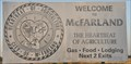 Image for Welcome to McFarland ~ The Heartbeat Of Agriculture