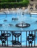 Image for Meditation Garden Fountain - Graceland, Memphis, Tennessee, USA.