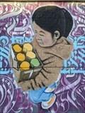 Image for Girl carrying supplies - Edmond, Oklahoma - USA