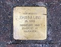 Image for Stolperstein Johanna Lang, Bad Homburg, Germany