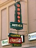 Image for Neon Fountain Sign - Reeves Drug Store - Pulaski, TN