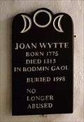 Image for Joan Wytte gravestone - Museum of Witchcraft and Magic - Boscastle, Cornwall