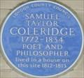 Image for Samuel Taylor Coleridge - Berners Street, London, UK