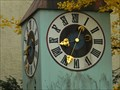 Image for Clock at a dismounted little Tower, Holzländerstrasse, Regensburg - Bavaria / Germany