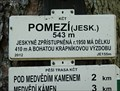 Image for Elevation Sign - Pomezi.543m