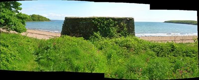 Wall with Rigg Bay beyond