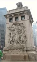 Image for The Pioneers - Michigan Avenue Bridge NW pylon, Chicago, IL