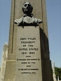 Her is Buried in Presidents Circle in Richmond's Hollywood Cemetery