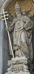Image for Statue of St. Cregorius at St. Stephen's Basilica - Budapest, Hungary