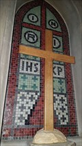Image for Reredos Mosaic - St Botolph and St John The Baptist - Croxton Kerrial, Leicestershire