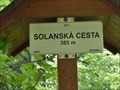 Image for Elevation Sign - Solanska cesta, Czech Republic.385m