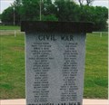 Image for Civil War Memorial - Pawhuska Veterans Memorial ~ Pawhuska, OK