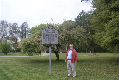 geotrooperz-pp at the Spesutia Church historical marker in Perryman, Harford County, Maryland