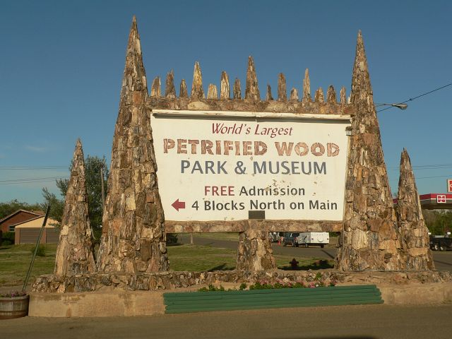 World's Largest Petrified Wood Park and Museum in Lemmon, SD