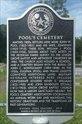Image for Pool's Cemetery
