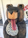 Image for Lakeside Creamery bear eating ice cream - Deep Creek Lake - Oakland, Maryland