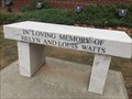 Image for Helyn and Louis Watts Bench - Kennesaw, GA