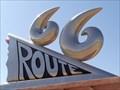 Image for Historic Route 66 - Route 66 Sculpture - Tucumcari, New Mexico, USA.