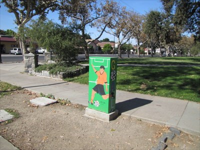 Soccer Theme Utility Box Setting, San Jose, CA