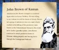 Image for John Brown of Kansas -- Marais des Cygnes SHS, Linn Co. KS