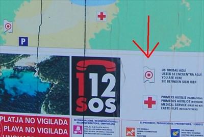 Us Trobau Aqui Cala Mitjana Menorca Spain You Are Here Maps
