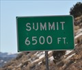 Image for Interstate 15 Southbound ~ Beaver South Summit, 6500 feet