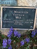 Image for Vietnam War Memorial, Caledonia Memorial Post 305, Caledonia, Michigan
