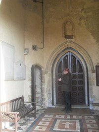 ...the porch under the tower.