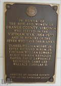 Image for Vietnam War Memorial, Orange County Courthouse, Orange VA, USA