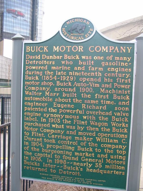 David Dunbar Buick Buick Motor Company Michigan