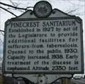 Image for Pinecrest Sanitarium Historical Marker - Beckley, WV