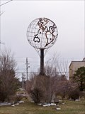 Image for Globe statue - Lincoln Highway - Council Bluffs, Iowa