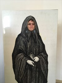 On the way out, after the tour, near the wine tasting, rest rooms and gift shop is this cutout photo op, where your friend orfamily member can see what he/she would look like as a monk.