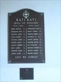 Image for KATIKATI   Memorial Hall Roll of Honour- New Zealand