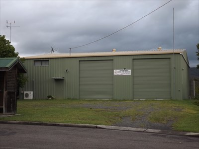 The two-bay colourbond shed @ Wards River, NSW