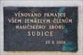 Image for Pametni deska clenum Sboru dobrovolnych hasicu - Sudice, Czech Republic